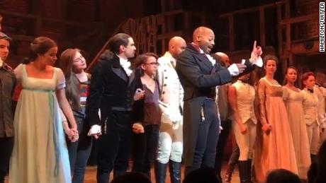 Trump takes on Hamilton cast, via twitter
