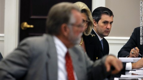 Former North Charleston Police Officer Michael Slager on trial for the murder of Walter Scott.