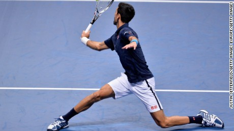 Kei Nishikori won just a single service game against the impressive Novak Djokovic