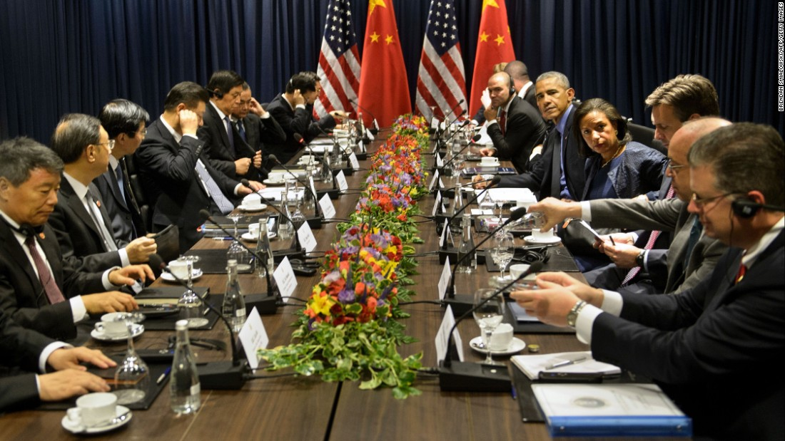Obama and other leaders wait for a meeting November 19 during the summit of the Asia-Pacific Economic Cooperation.