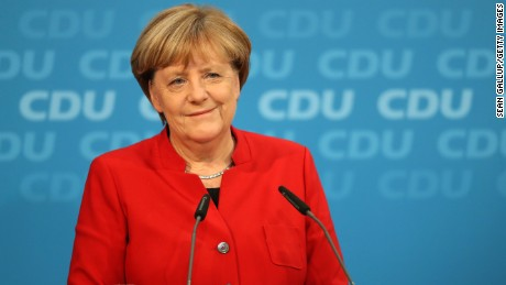 German Chancellor Angela Merkel announces run for fourth term