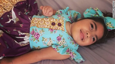 Sofia Patriarca has severe epilepsy and can't walk or talk or even sit up.
