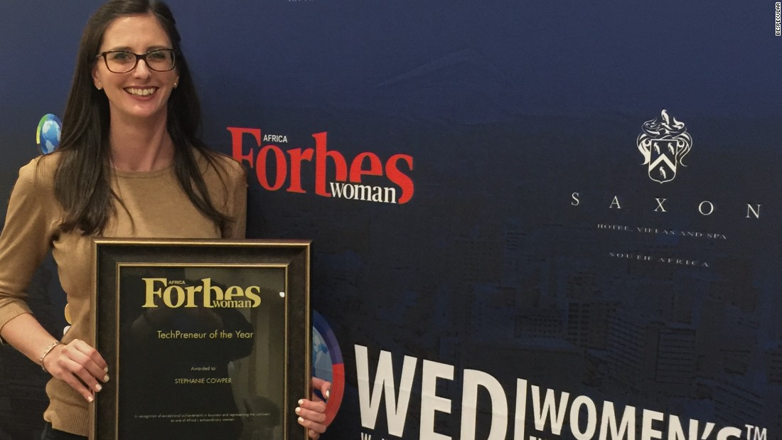 BeSpecular's CEO Stephanie Cowper received the Forbes Woman Techpreneur of the Year Award in November 2016. She conceived the idea in 2014 with college classmate Giacomo Parmeggiani from Italy, now CTO.