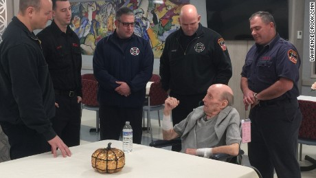 The firefighters recently visited Duffy.