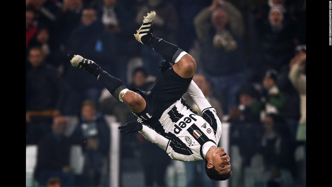 Juventus midfielder Hernanes celebrates a goal against Pescara during an Italian league match in Turin on Saturday, November 19. Juventus won 3-0.