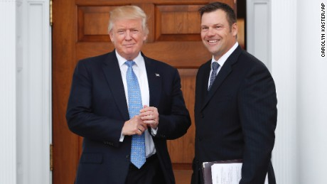 Photo of Trump-Kobach meeting reveals apparent DHS proposal