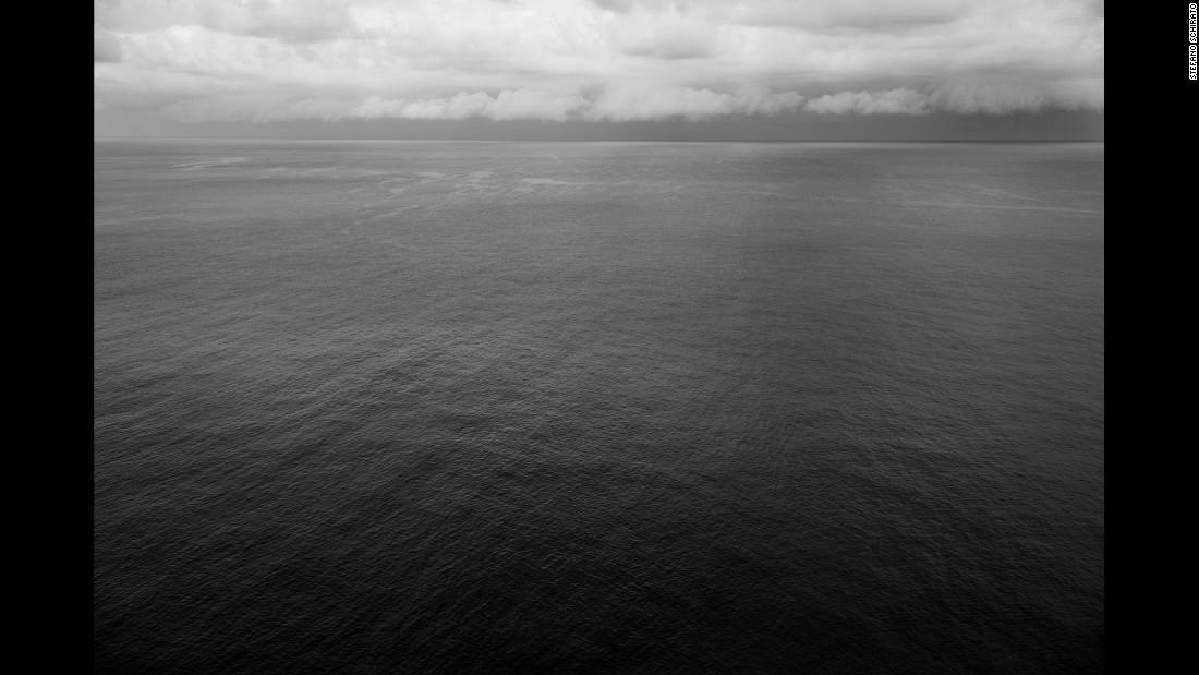 The sea around Lampedusa.