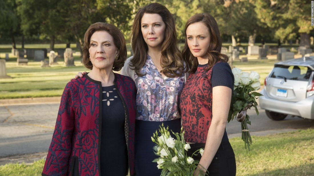 "One of the most eagerly awaited series of the year has been Netflix's ""Gilmore Girls: A Year in the Life.""  Why not spend the holiday with Emily, Lorelai and Rory Gilmore played by (Kelly Bishop, Lauren Graham and  Alexis Bledel)?"