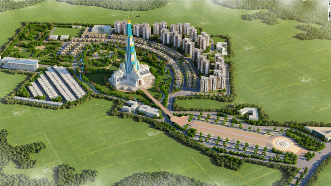 There will be a theme park within the temple grounds, and social facilities, apartments and villas will be built around it.