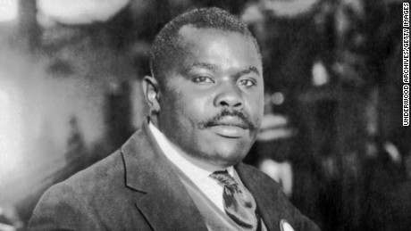 Publisher and orator Marcus Garvey seated at his desk, August 5, 1924. (Photo by Underwood Archives/Getty Images)