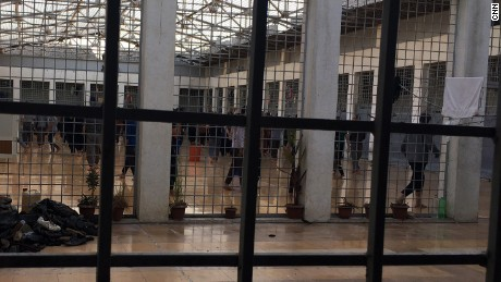 CNN reporting from a secret detention facility in northern Iraq