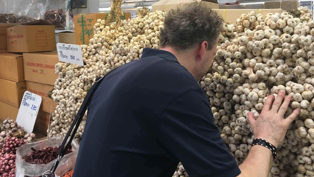 Prior to his dinner, hosted at Bangkok restaurant Gaggan, Elverfeld paid a visit to the city's Or Tor Kor market to hunt down ingredients.