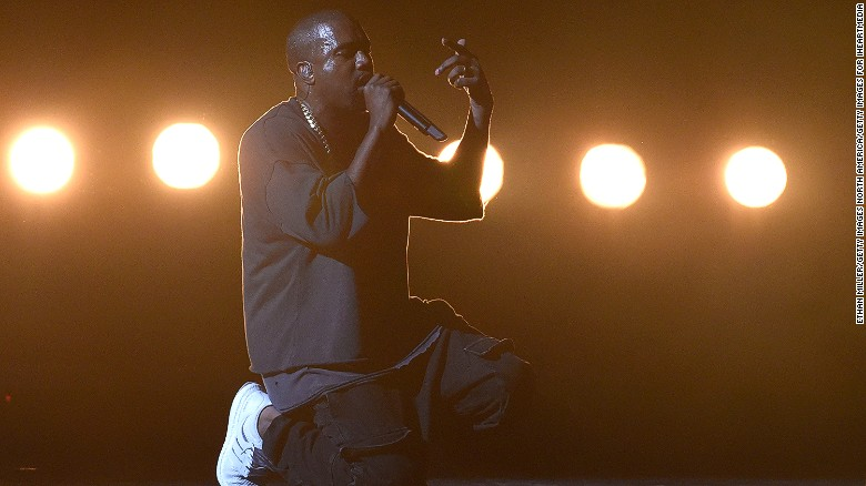 LAS VEGAS, NV - SEPTEMBER 18:  Rapper Kanye West performs at the 2015 iHeartRadio Music Festival at MGM Grand Garden Arena on September 18, 2015 in Las Vegas, Nevada.  (Photo by Ethan Miller/Getty Images for iHeartMedia)