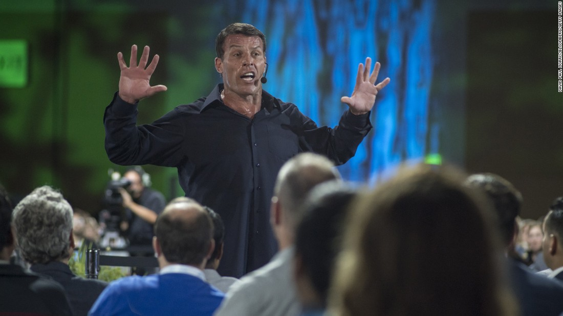 "Life coach Tony Robbins utilizes neuro-linguistic programming, or NLP, a technique developed in the 1970s, to help people change their behaviors. Robbins is famous for his ""firewalk seminars"" and other recurring events like ""Unleash the Power Within,"" along with his books and seminars, to help people achieve life goals."