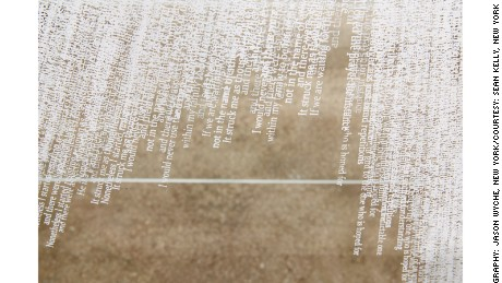 "Closeup of ""Overture"" (2015) by Idris Khan"