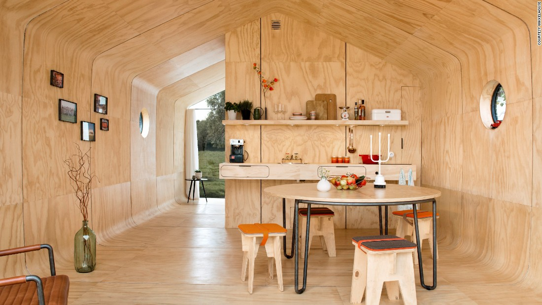 The owners of Wikkelhouse say their houses are three times more eco-friendly than a traditional house.