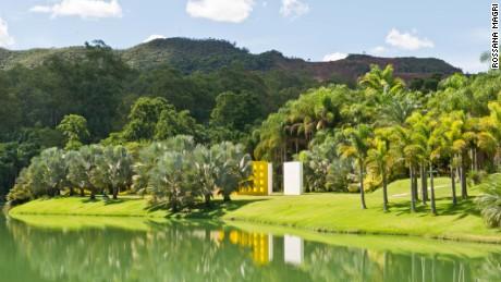 Lush gardens envelop outdoor installations and standalone galleries at Inhotim.
