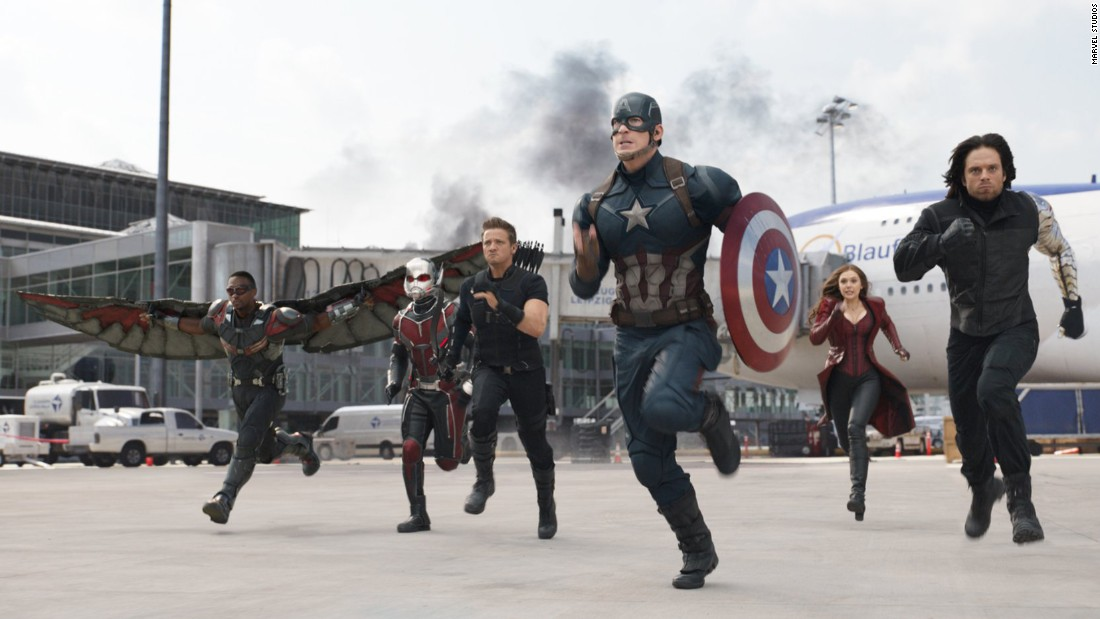 "<strong>""Captain America: Civil War""</strong> :  Anthony Mackie, Paul Rudd, Jeremy Renner, Chris Evans, Elizabeth Olsen and Sebastian Stan star are a band of super heroes in this Marvel hit. <strong>(Netflix) </strong>"