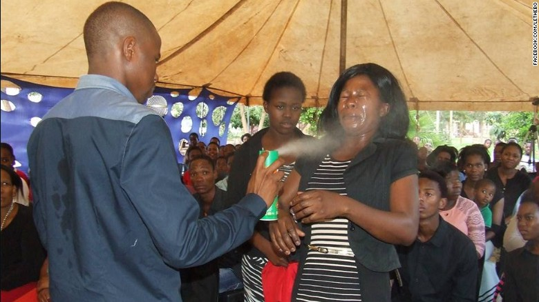 South African pastor sprays insecticide congregants heal them