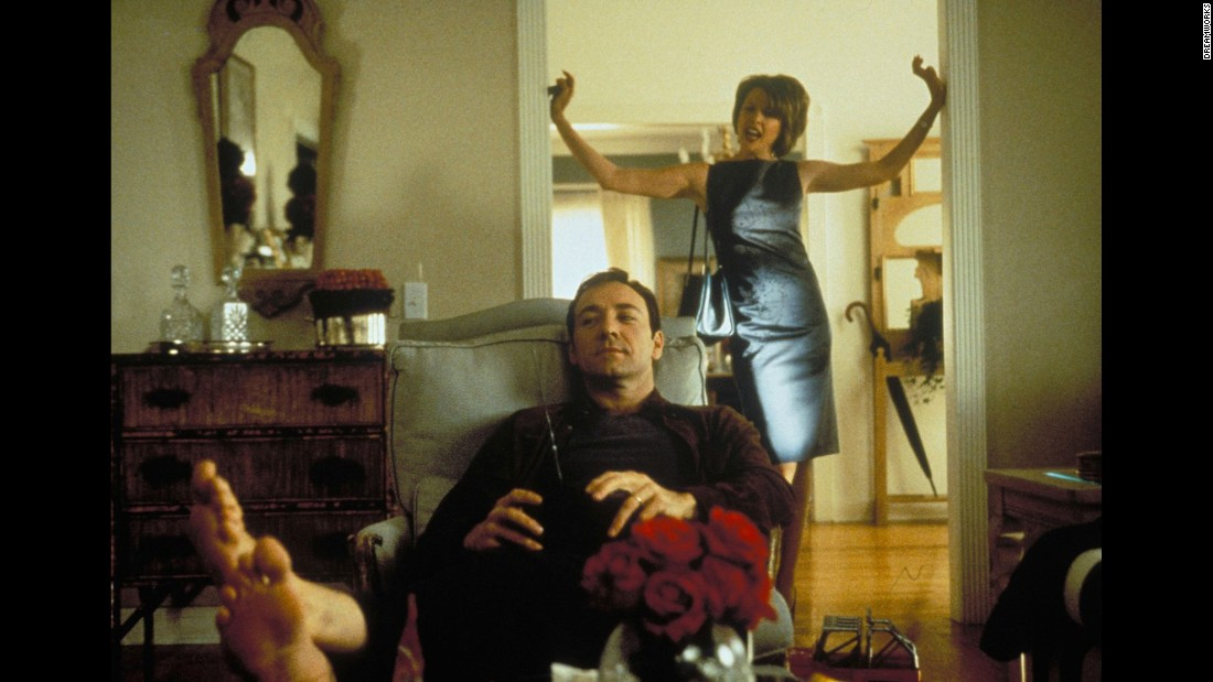 "<strong>""American Beauty""</strong> : Annette Bening and Kevin Spacey star as a couple navigating life in the suburbs where life is not what it seems. <strong>(Hulu) </strong>"