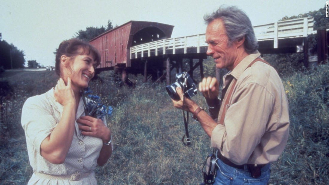 "<strong>""The Bridges of Madison County"" : </strong>Meryl Streep and Clint Eastwood are soul mates in this drama based on a 1992 best-selling novel by Robert James Waller. <strong>(Hulu)</strong>"