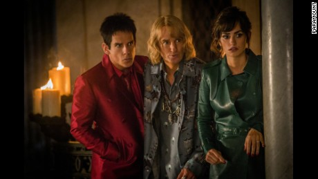 "Ben Stiller, Owen Wilson and Penélope Cruz in ill-received sequel ""Zoolander 2."""