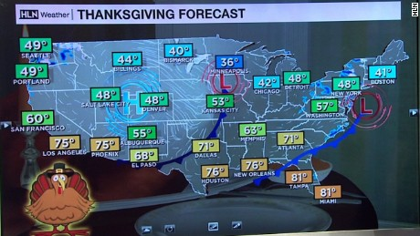 Thanksgiving weather