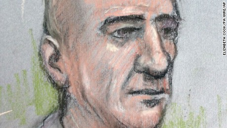 A courtroom artist's sketch of Stephen Port, who was found guilty of four murders.