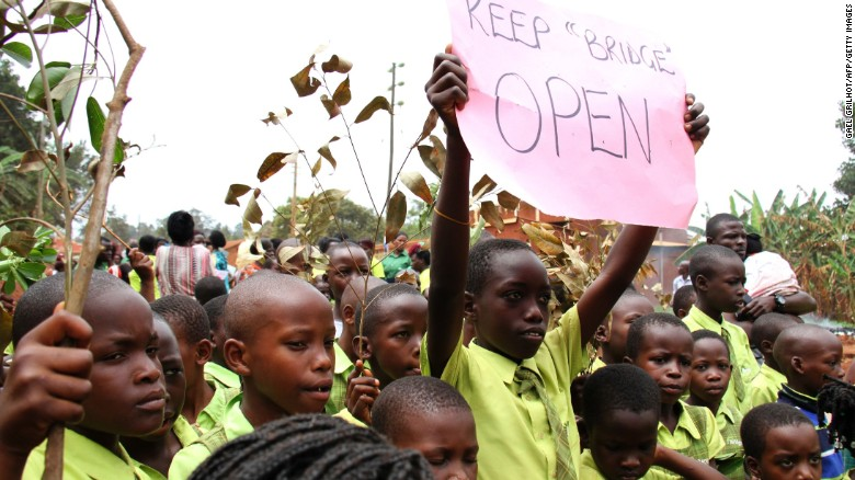 Many students, parents and teachers protested after Uganda's High Court ordered the closure of the low-cost private schools, which are backed by Microsoft and Facebook founders Bill Gates and Mark Zuckerberg.