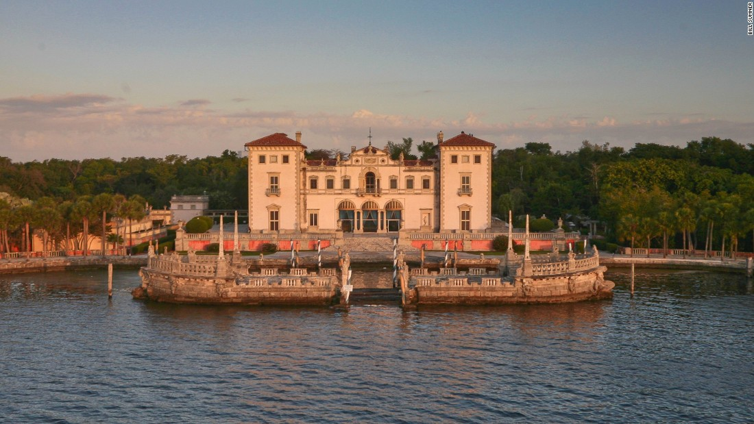 If over-the-top tropical opulence is your taste, here's the backdrop of your dreams. The Villa Vizcaya is a Jazz Age melange of Italian Renaissance and Baroque architecture, with formal gardens and a village of outbuildings.
