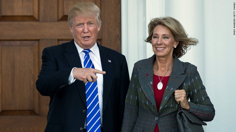 Image result for Trump's Education Secretary