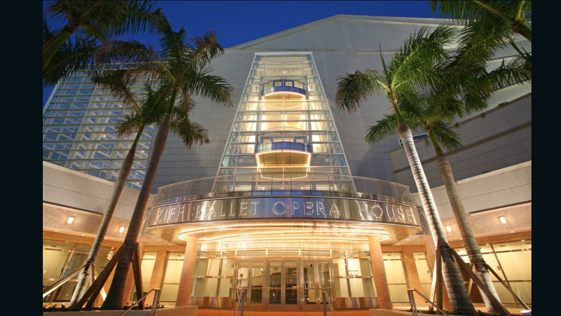 As the premier performing arts center in Florida and the second largest in the country, the Adrienne Arsht Center for the Performing Arts is a modern, multi-theater venue that hosts the Miami City Ballet and the Miami Symphony Orchestra.