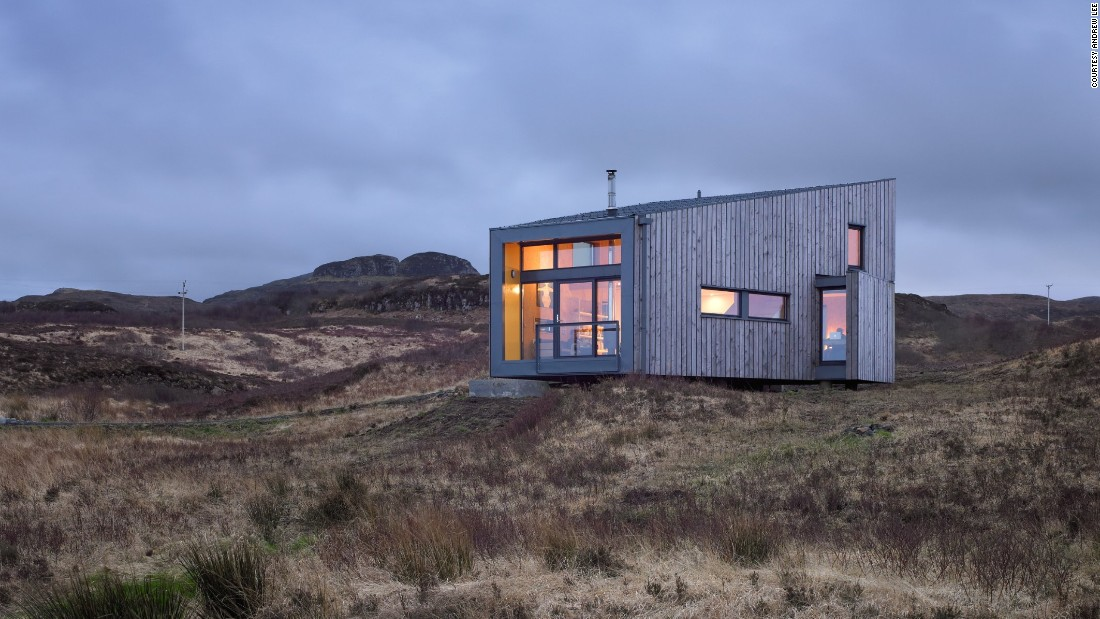 Another Rural Design creation, this holiday let is located in Fiscavaig on the Western coast of Skye. This 2010 recipient of the Saltire Medal was built from sustainable materials and designed to complement its stunning, cliff-side landscape.