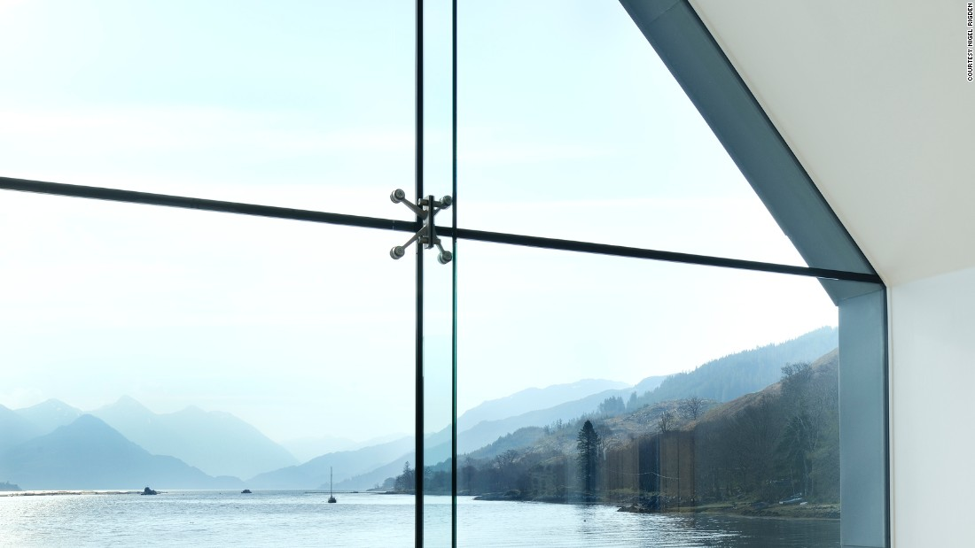 "These buildings frame their stunning views with large glass windows. ""Traditional Scottish buildings are very solid, very low, often made of stone, with tiny windows to protect you from the weather [...] Whereas now we don't have that issue, now we have amazing technologies and amazing windows,"" explains Rural Design director Alan Dickson."