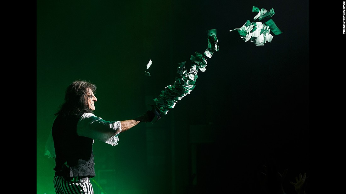 Rock legend Alice Cooper performs in Vancouver, British Columbia, on Wednesday, October 19.