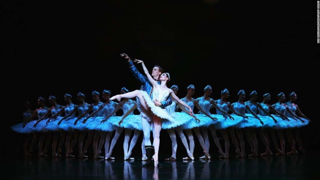 "Dancers with the Australian Ballet rehearse ""Swan Lake"" at the Sydney Opera House on Thursday, March 31."