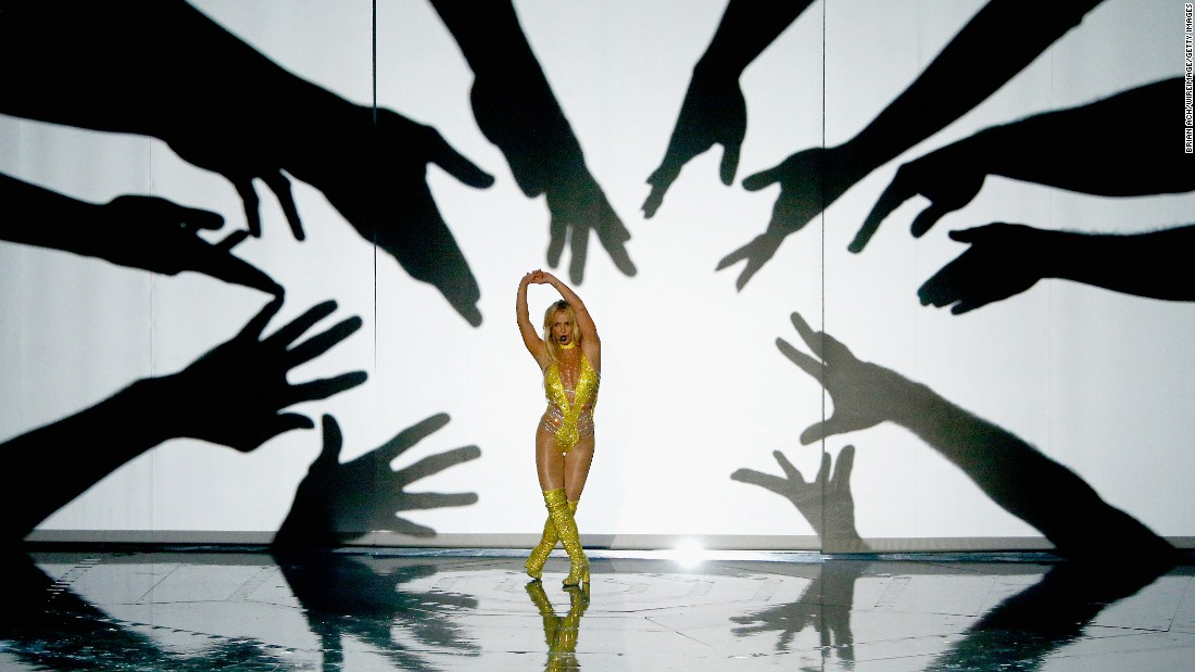 Pop star Britney Spears performs at the MTV Video Music Awards on Sunday, August 28.