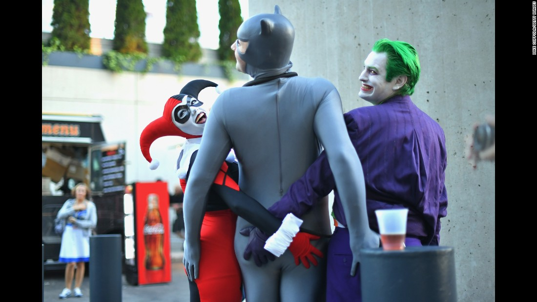 Cosplayers attend New York Comic Con on Saturday, October 8.