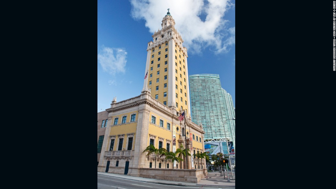 Today it stands as a 17-story monument to the city's thriving arts and culture scenes, but the former headquarters of the defunct Miami News also played a key part in the business boom of the 1920s, and was a hub for the processing of Cuban immigrants in the '60s. Built in 1925 in the Mediterranean revival style (all Corinthian columns, wrought-iron balconies and concrete cherubs), it is an undervalued jewel in the architectural crown of the city.