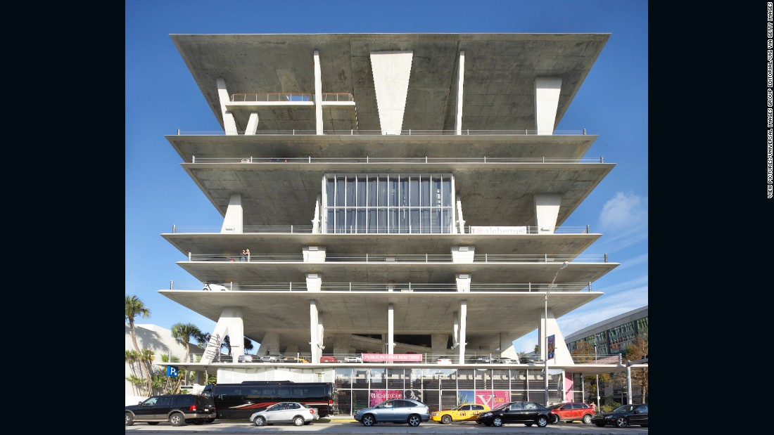 "This Brutalist parking structure, known as ""Eleven Eleven"" or the Garage, has insinuated itself into the skyline and popular imagination. The handiwork of Herzog & de Meuron, this parking garage of peerless sophistication at once recalls Paul Rudolph's bunker-like constructions of the 1960s, and Morris Lapidus' languid take on modernism, which defined Miami in its post-war heyday. Eleven Eleven also kicked off the city's high design craze for commercial projects (and, not surprisingly, for newfangled garages.)"