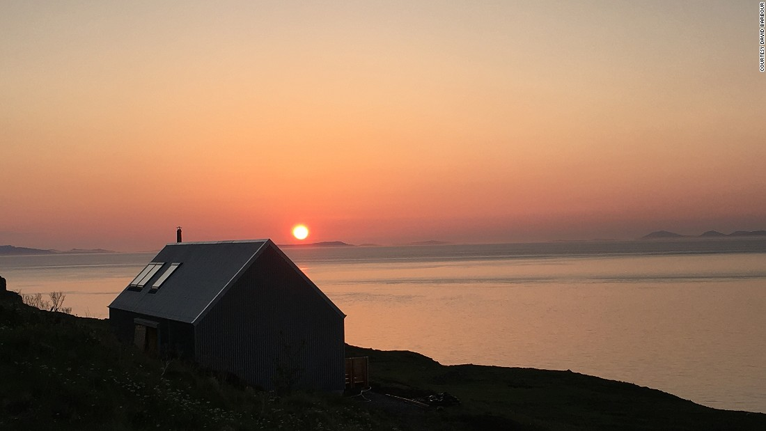 """I love designing a building where you have a great sunset"", says Rural Design director Alan Dickson, ""I think that's a very special moment in any day, as the sun sets particularly across the sea."""