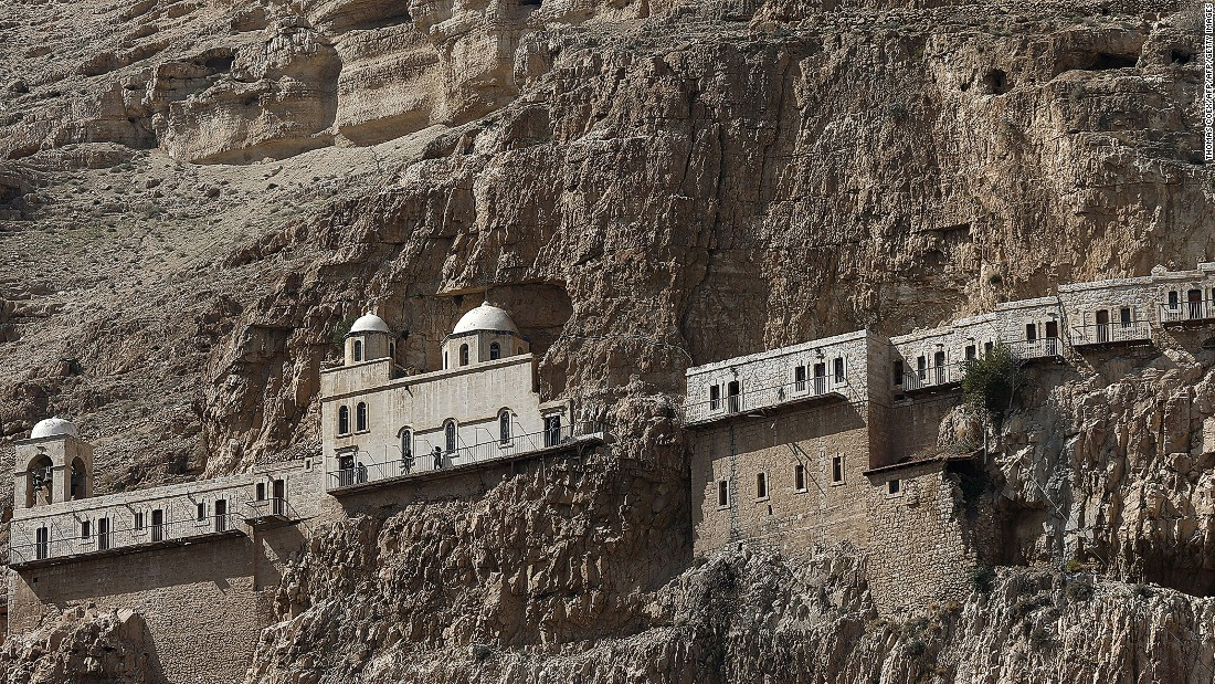 The Orthodox Christian monastery of the Temptation was built during the 6th century above the cave where Jesus is said to have spent 40 days and 40 nights fasting and meditating.