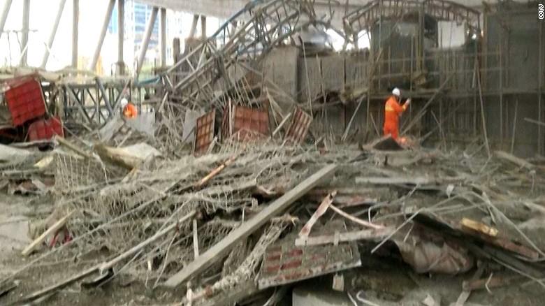 丰城发电厂三期在建项目冷却塔施工平台坍塌 - wuwei1101 - 西花社