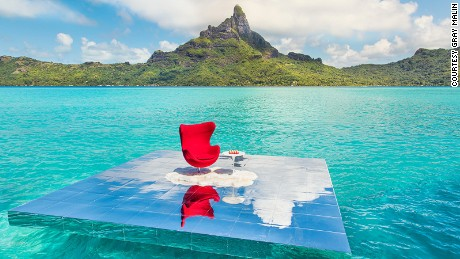 "Malin shot his ""Art of Living Series"" at Le Meridien Bora Bora."
