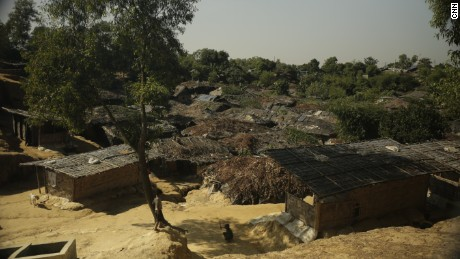 Kutupalong camp in Bangladesh is a major destination for Rohingya fleeing Myanmar's Rakhine state.