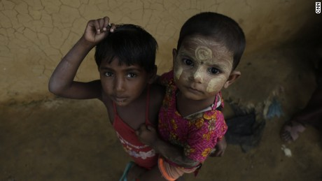 Many children live in the Rohingya camp, as whole families fled to Bangladesh.