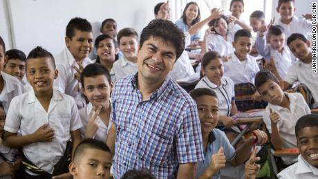 November 8, 2016. Jeison Aristizaba (32) starter an organization initially run out of his family's garage to help them. Thirteen years later, his nonprofit, ASODISVALLE, has its own space, where he operates a school and a facility that provides special education, medical services and nutritious meals for more than 480 young people with disabilities -- all for free. Aguablanca, Cali, Colombia. Photographer: Juan Arredondo. © 2016 Cable News Network. A Time Warner Company. All Rights Reserved.