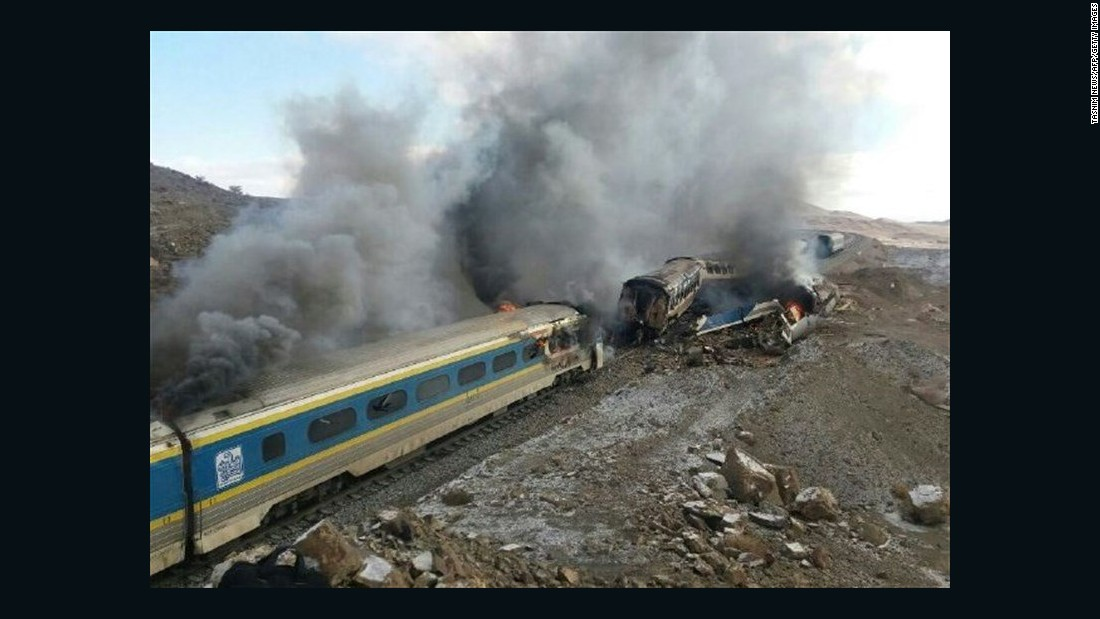 At Least 31 Killed In Train Collision In Iran