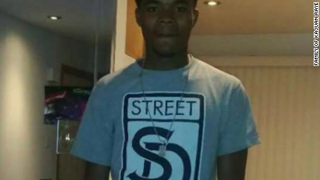 Kajuan Raye, 19, shown in this undated photograph, was shot and killed by a Chicago police district sergeant on the night of November 23, 2016, police say.