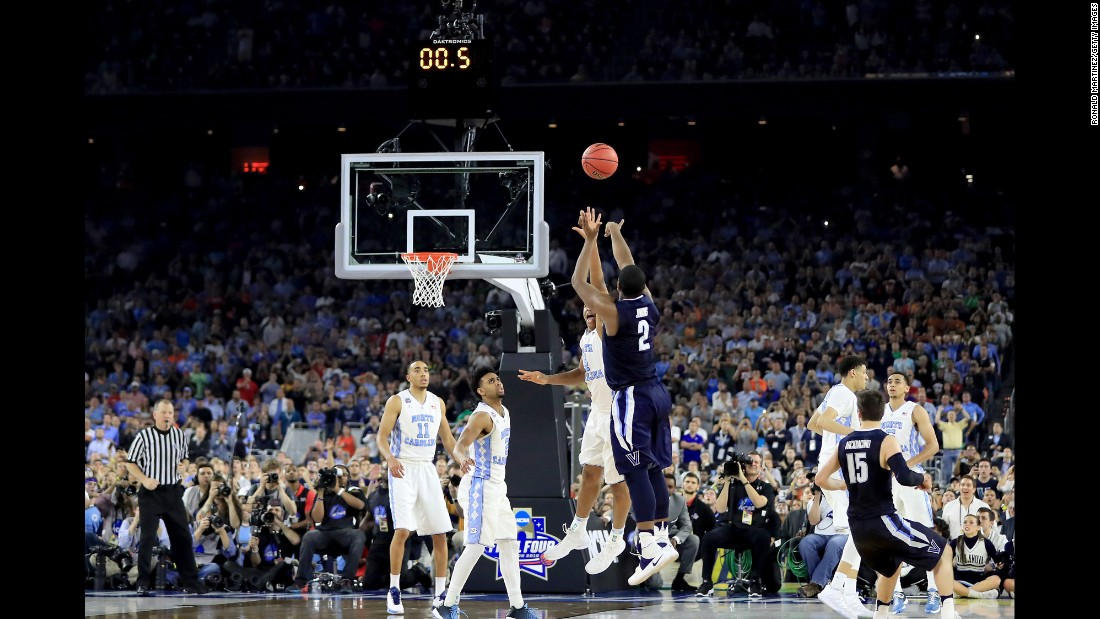 "Villanova's Kris Jenkins shoots a buzzer-beating 3-pointer to win <a href=""http://www.cnn.com/2016/04/05/sport/gallery/ncaa-mens-basketball-championship/index.html"" target=""_blank"">the NCAA Tournament final</a> on Monday, April 4. The Wildcats defeated North Carolina 77-74 for their first national title since 1985."